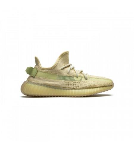 Женские кроссовки Adidas Yeezy Boost 350 V2  Flax светло-зеленые