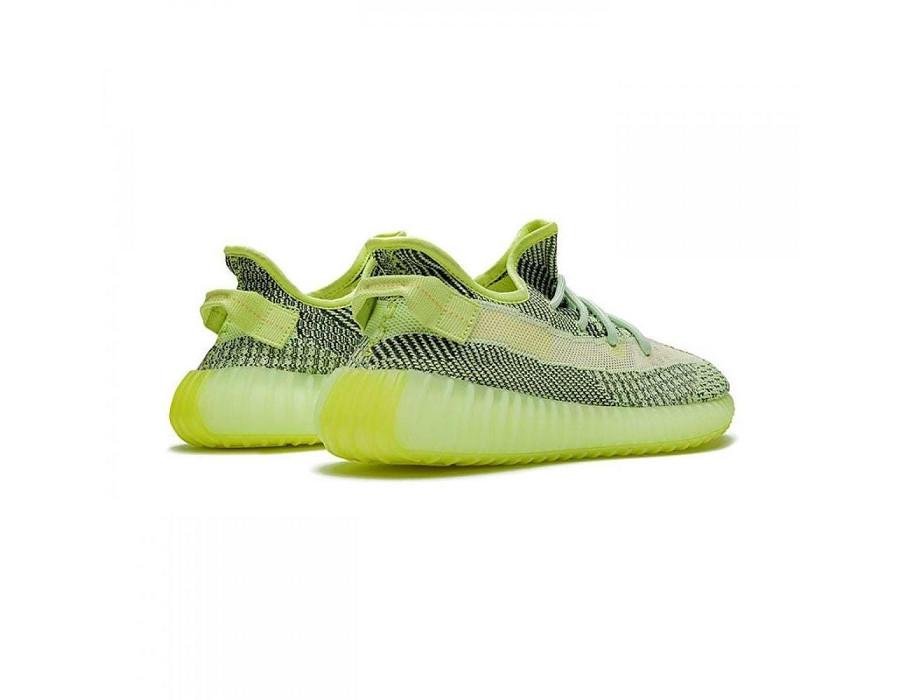 Мужские кроссовки Adidas Yeezy Boost 350 V2 Yeezreel (Non-Reflective) салатовые