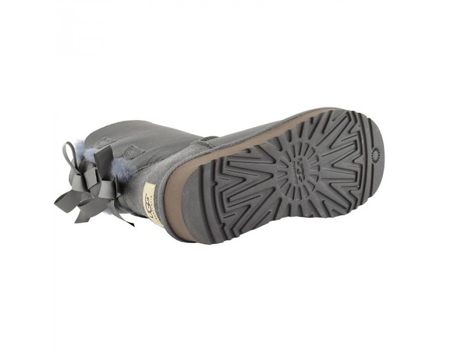 Bailey Bow Metallic Grey