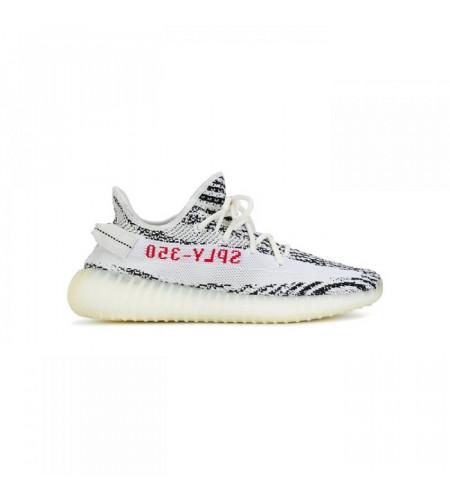 Мужские кроссовки Adidas Yeezy Boost 350 V2 Zebra бело-черные
