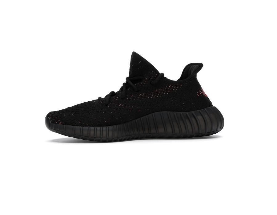 Женские кроссовки Adidas Yeezy Boost 350 V2 Core Black Red черно-красные