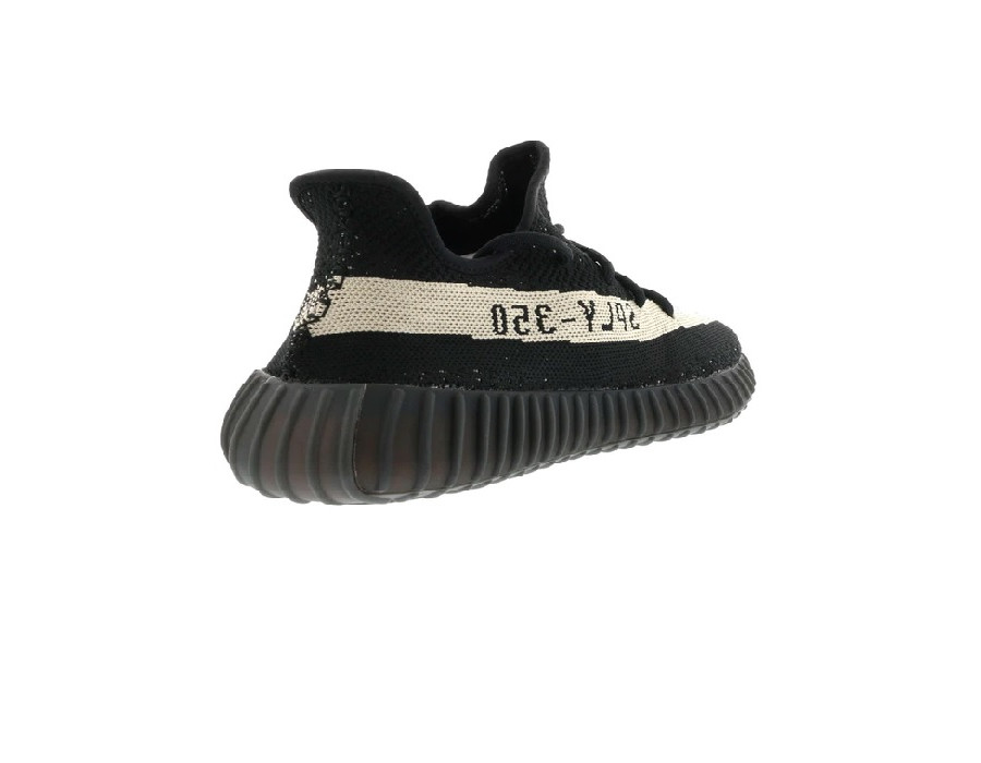 Мужские кроссовки Adidas Yeezy Boost 350 V2 Core Black White черно-белые