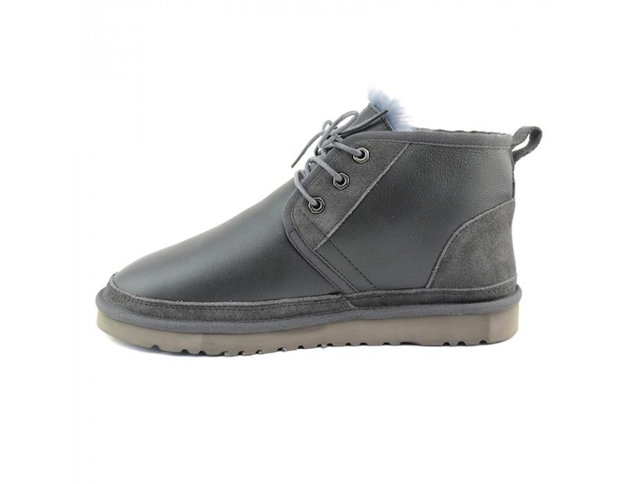 Men Boots Neumel Metallic Grey