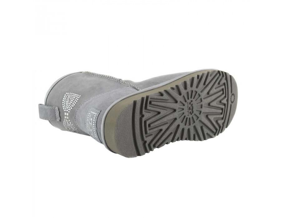 Mini Crystal Bow Grey