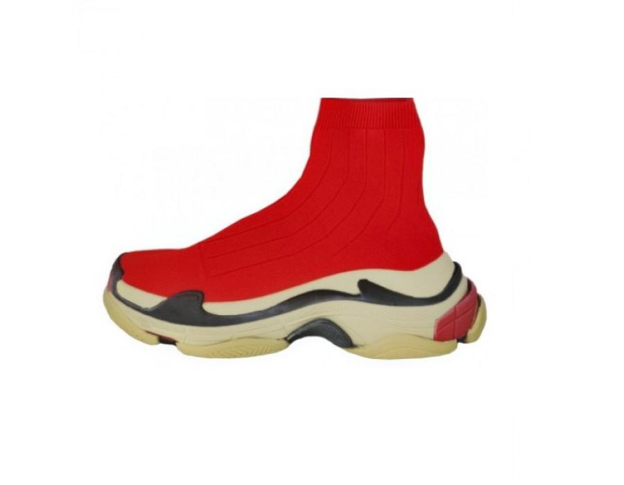 Мужские кеды Balensiaga Speed Trainer Triple S Красные