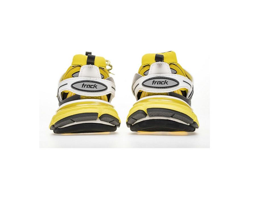 Мужские кроссовки Баленсиага трек желто серые