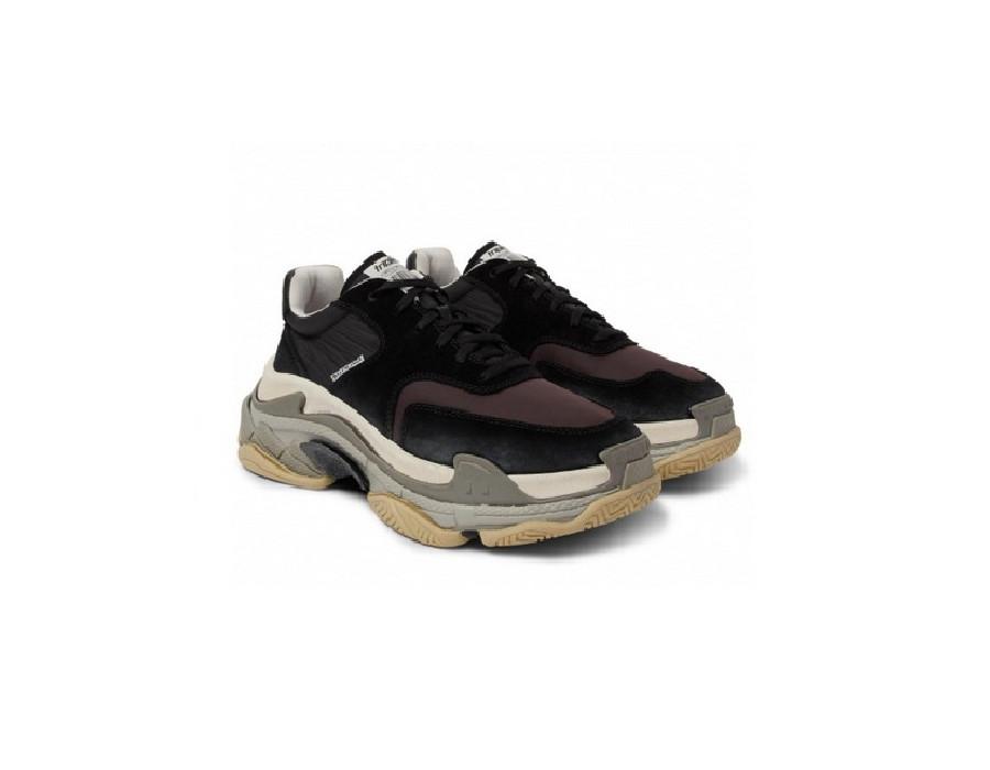 Мужские кроссовки Баленсиага трипл с 2.0 черно-серые