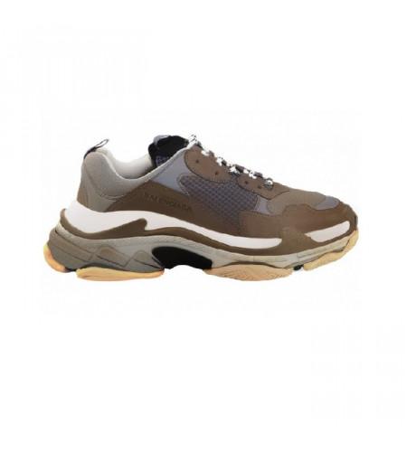 Мужские кроссовки Баленсиага трипл с коричневые