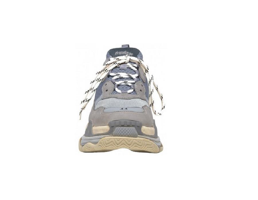 Женские кроссовки Balenciaga Triple S серые