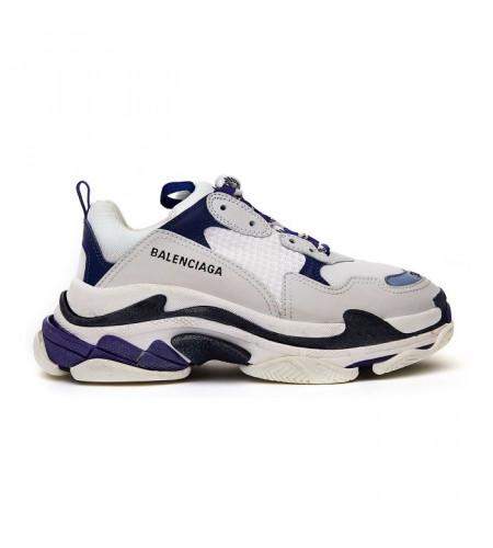 Женские кроссовки Balenciaga Triple S сине-белые