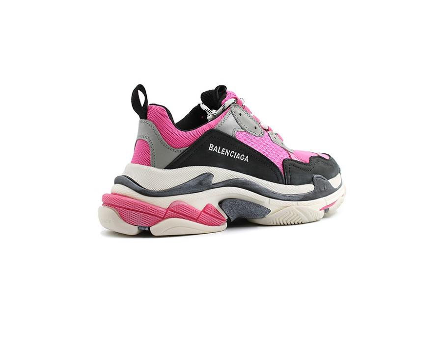 Женские кроссовки Balenciaga Triple S Розово-черные