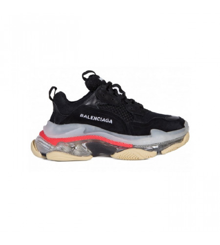 Женские кроссовки Balenciaga Triple S Transparent Botton Cushion черные