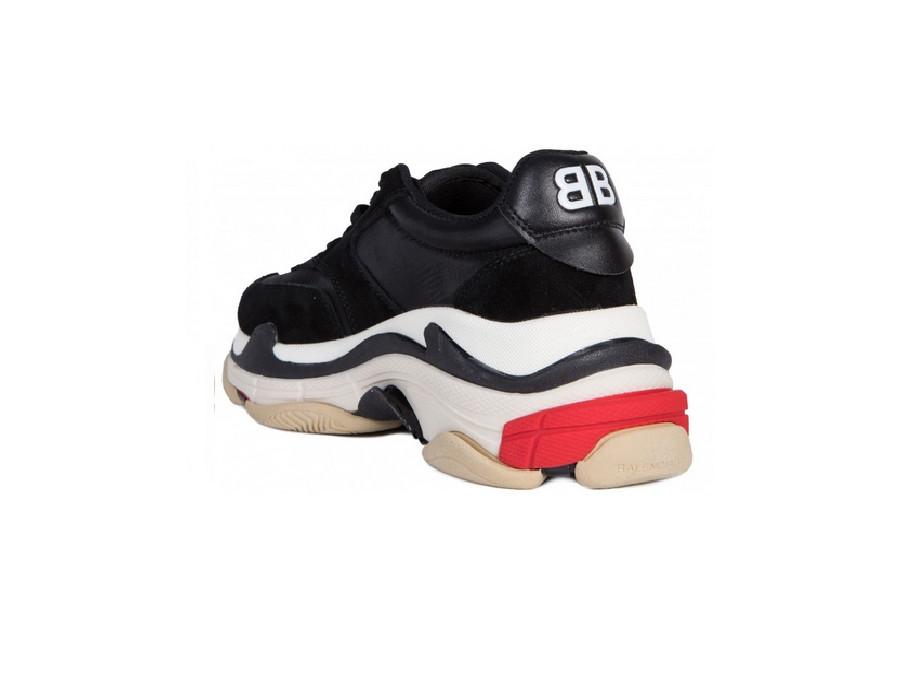 Мужские кроссовки Баленсиага трипл с Transparent Gris Бело-черные