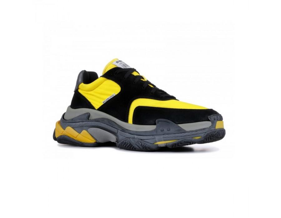 Женские кроссовки Balenciaga Triple S 2.0 Желто-черные