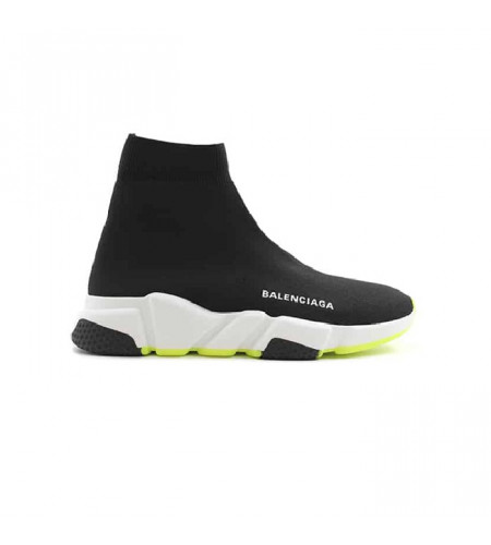Мужские кросовки Balensiaga Speed Trainer Black White Yellow