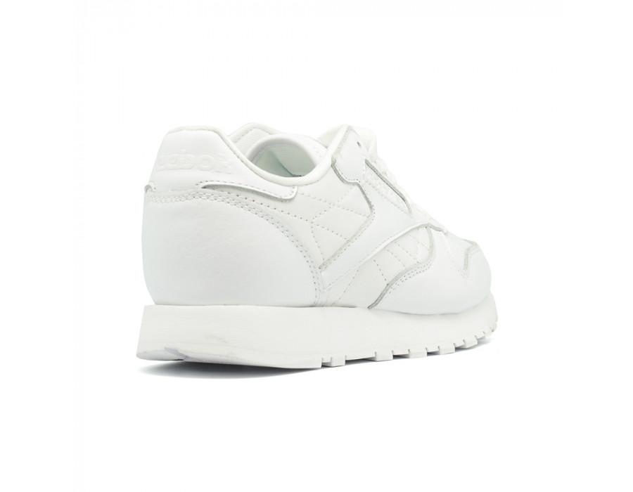 Женские кеды Reebok Classic Leather Perforation White белые