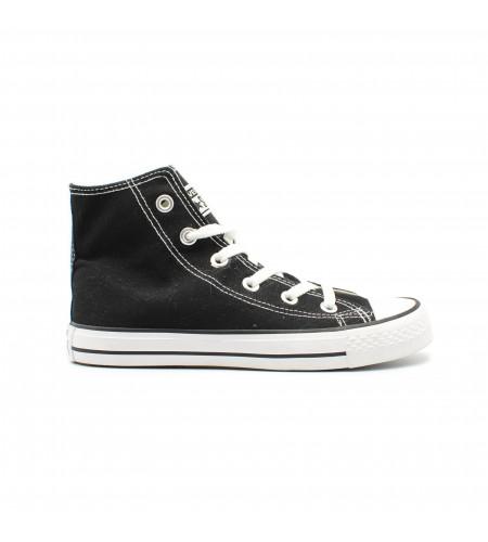 Женские кеды Converse All Star Chuck Taylor High White-Black бело черные