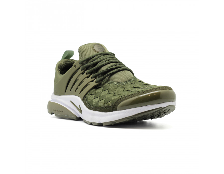 Мужские кеды Nike Air Presto Woven Green зеленые