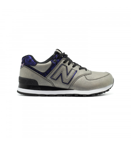Женские кеды New Balance 574 Mineral Glow Grey-Navy серо синии