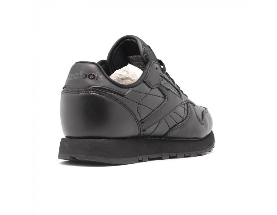 Женские кеды Reebok Classic Leather Perforation Black черные