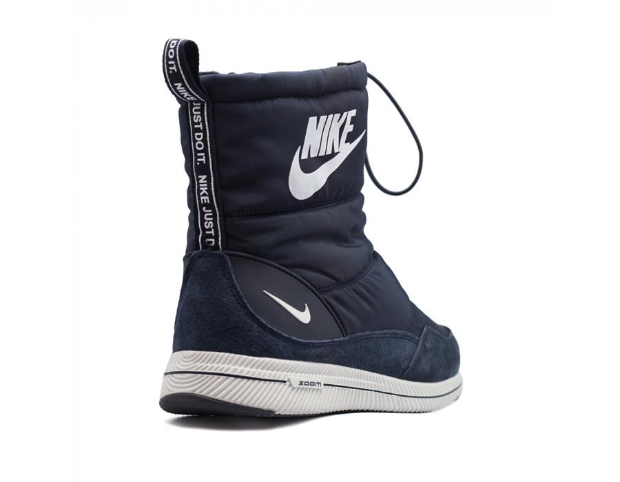 Дутики зимние Nike синие