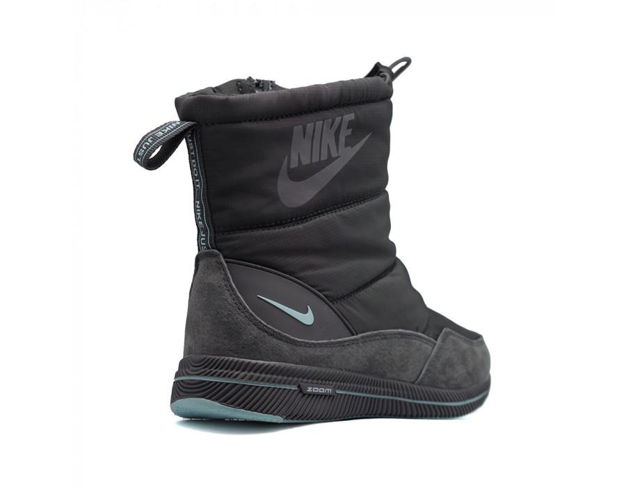 Зимние женские дутики Nike черные