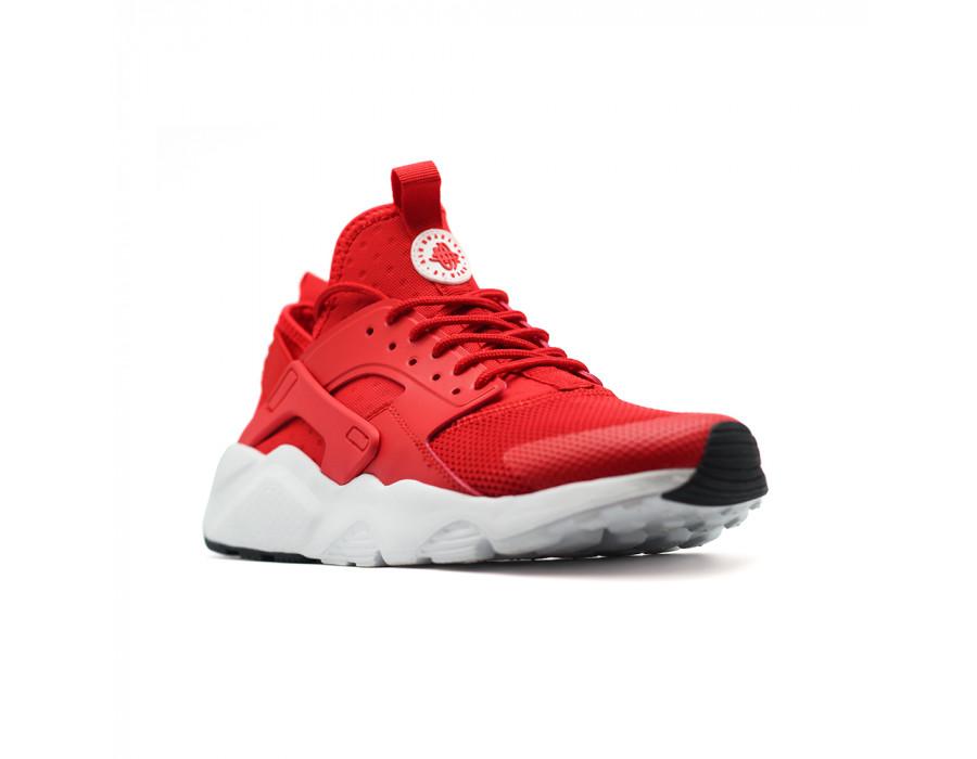 Женские кеды Nike Air Huarache Red-White красные