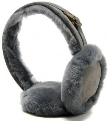 Меховые наушники угг Earmuff Grey