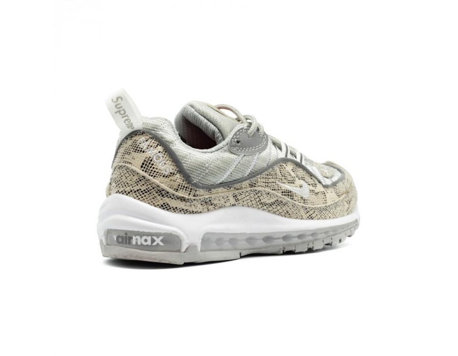 Женские кроссовки Nike Air Max 98 X Supreme Snake Skin
