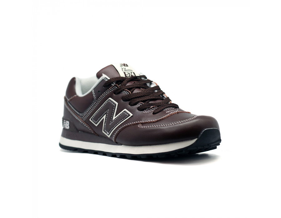 New Balance Мужские 574 Leather New Brown