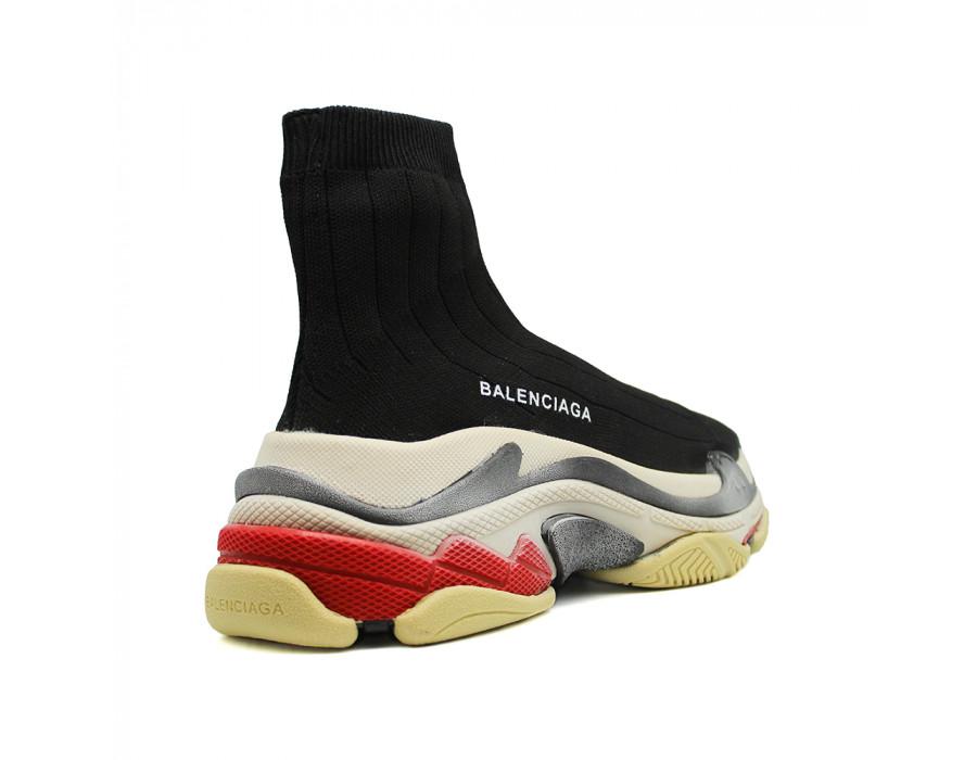 Мужские кеды Balenciaga Speed Trainer Triple S черные