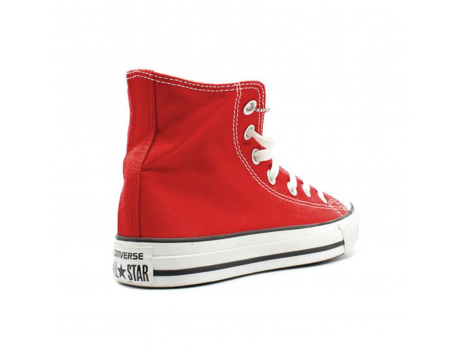 Красные женские кеды Converse All Star Chuck Taylor High