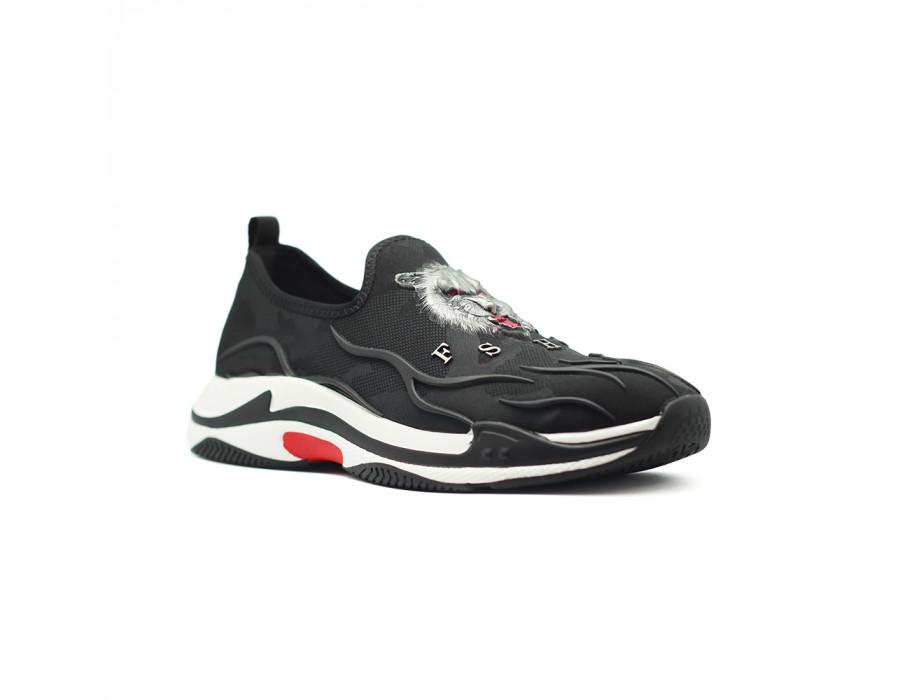 Мужские кеды Balenciaga Triple S Low Speed Trainer Black 2.0 черные