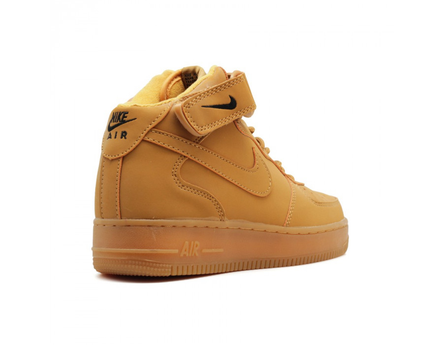 "Женские кроссовки Nike Air Force 1 Mid ""Wheat"" Women Baroque Brown"