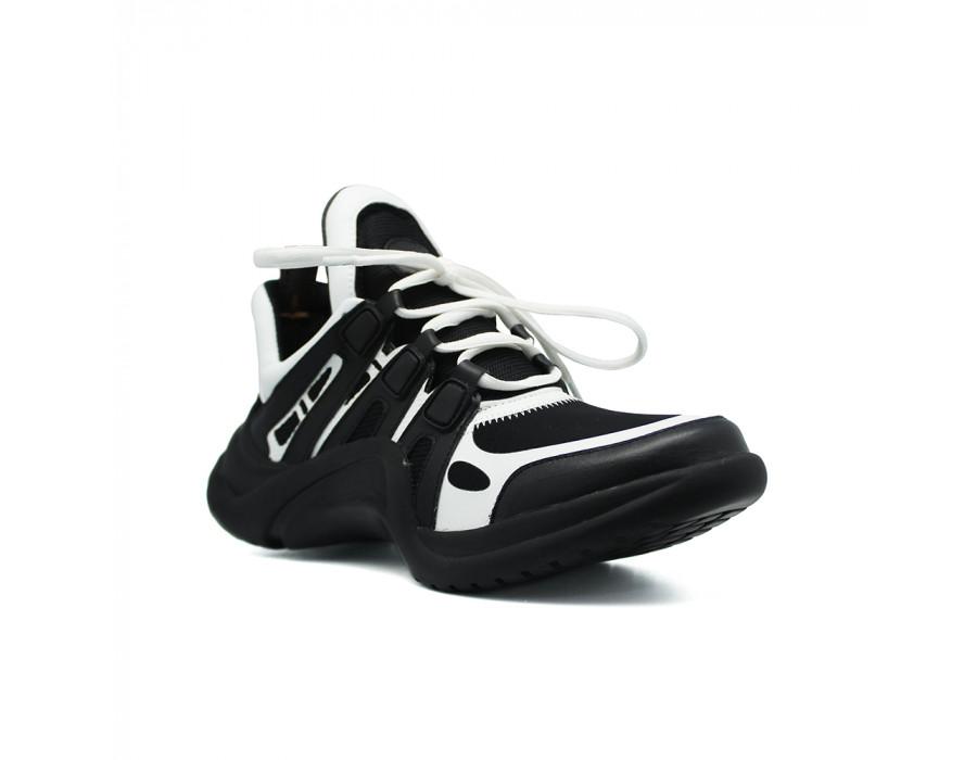Женские кеды Louis Vuitton Archlight Sneakers черно белые