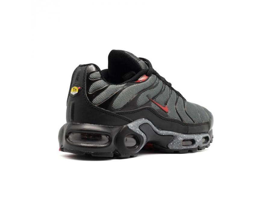 Мужские кеды Nike Air Max Plus черно серые