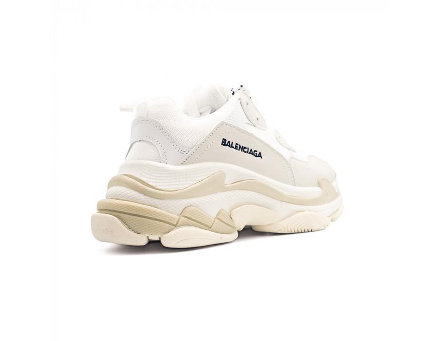 Мужские кеды Balenciaga Triple S white белые