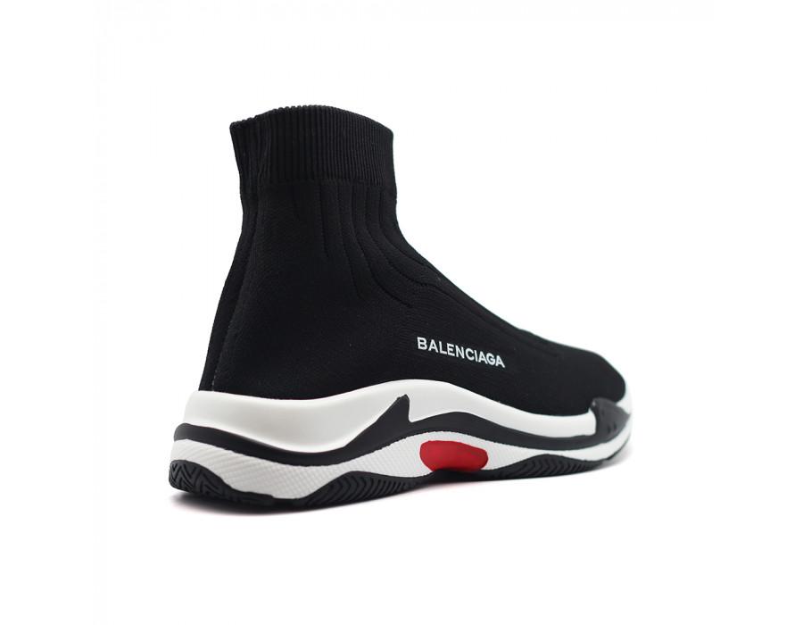 Женские носки-кроссовки Balensiaga черные