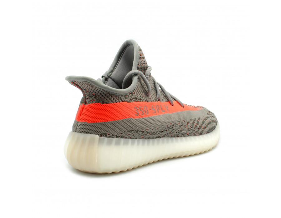 Мужские кеды Adidas Yeezy Boost Genration 3 серые
