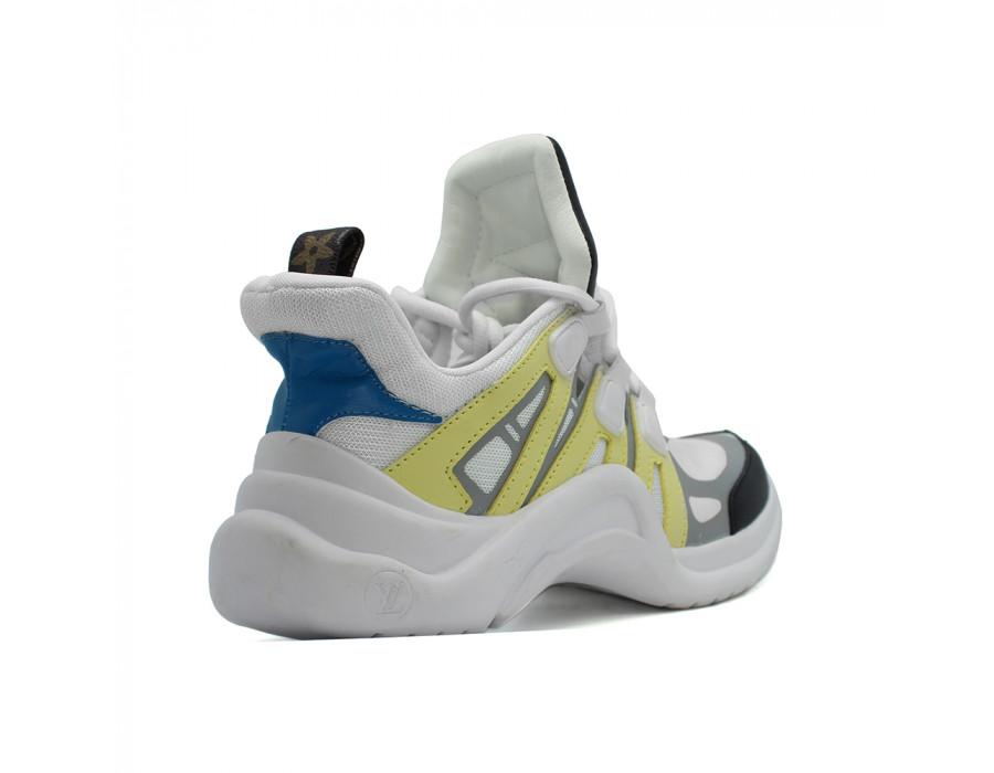 Женские кеды Louis Vuitton Archlight Sneakers Yellow цветные