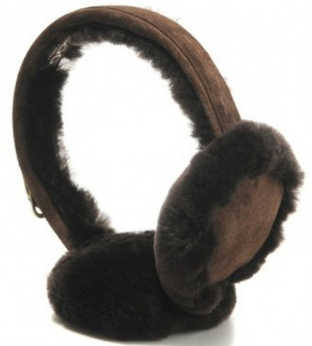 Меховые наушники угг Earmuff Chocolate