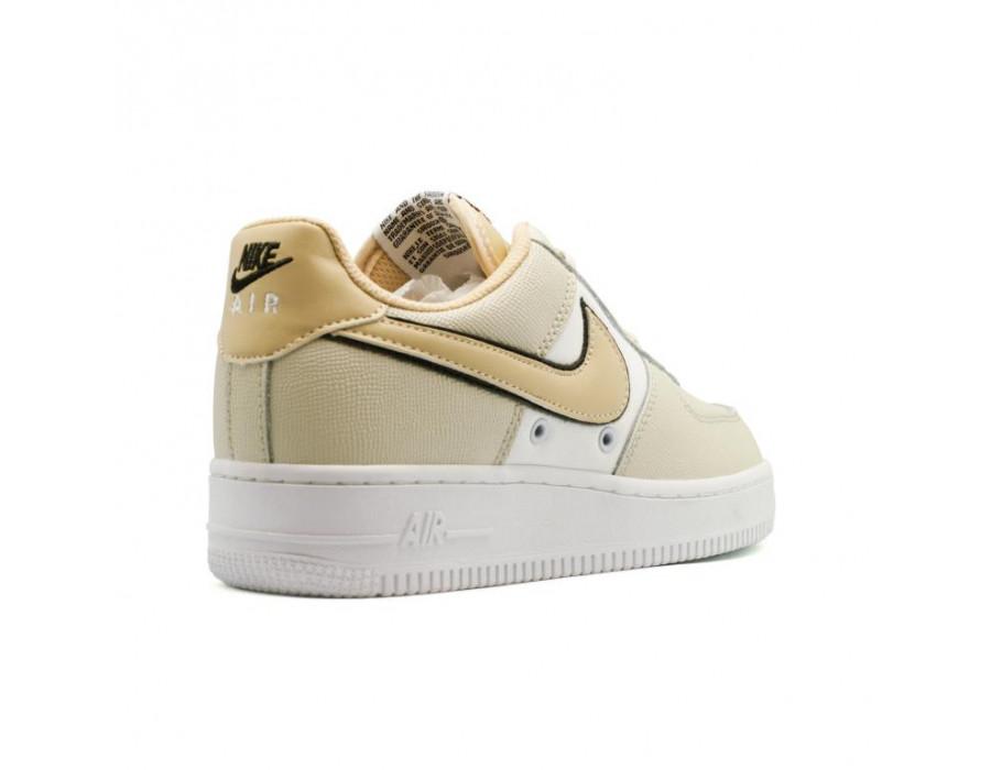 Женские кеды Nike Air Force 1 бежевые