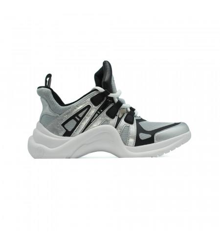 Женские кеды Louis Vuitton Archlight Sneakers серебристые