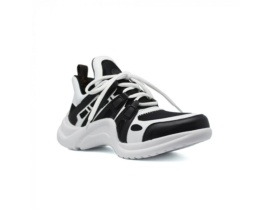 Женские кеды Louis Vuitton Archlight Sneakers бело черные