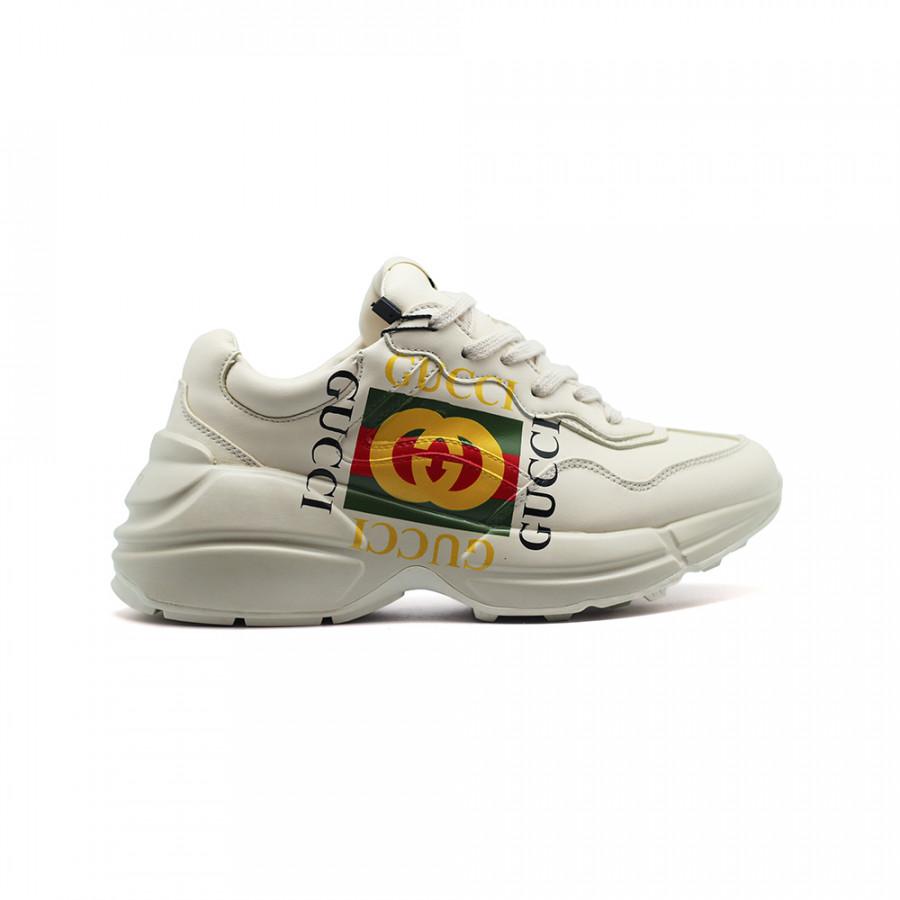 Купить Женские кроссовки Gucci Rhyton Logo Leather за 9990 рублей! 696d6be06ed