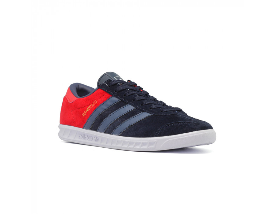 Мужские кроссовки Adidas Hamburg Red-Navy - BeinKeds.ru