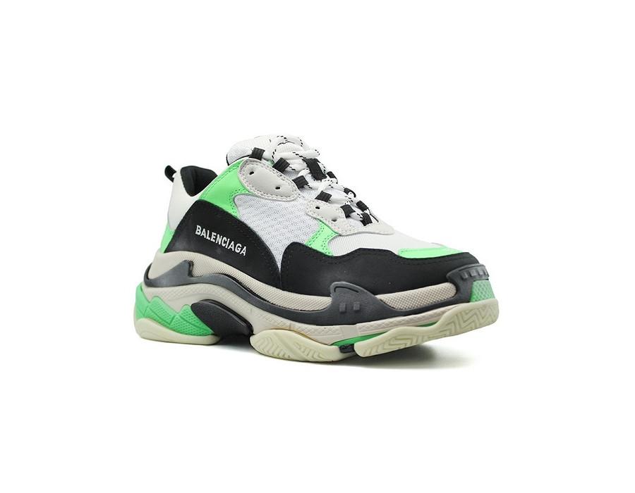 Мужские кроссовки Balenciaga Triple S зеленые