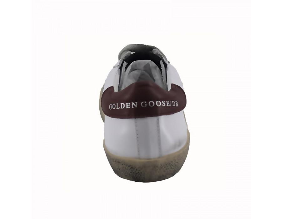 Кроссовки Голден Гус белые с красным