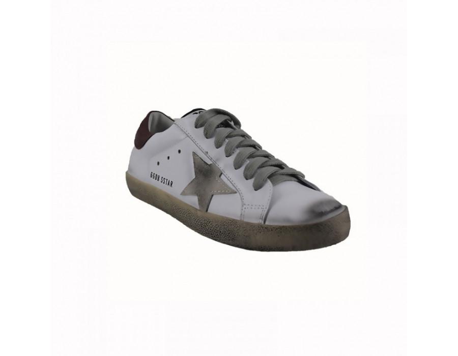 Мужские кроссовки Голден Гус бело красные