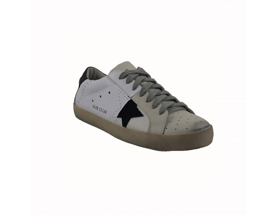 Мужские кроссовки Голден Гус белые с черным
